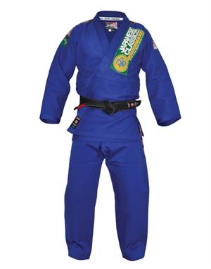 Isami Sachiko Double Weave Blue BJJ Gi With Patches